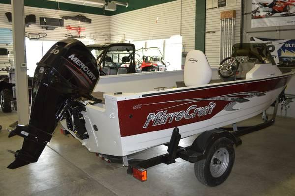 2013 mirrocraft troller exp 16 39 boat motor trailer for for Outboard motors for sale in wisconsin