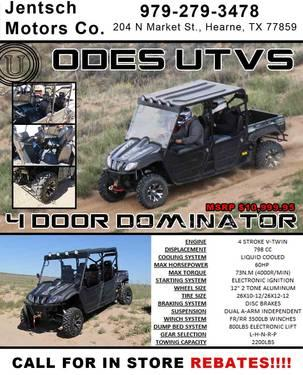 Honda Corpus Christi >> 2013 ODES 800cc 4 Seater Dominator: 4x4, Fully Loaded- 2 Year Warranty for Sale in Astin, Texas ...