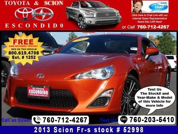 2013 scion fr s 10 series coupe 2d for sale in escondido california classified. Black Bedroom Furniture Sets. Home Design Ideas