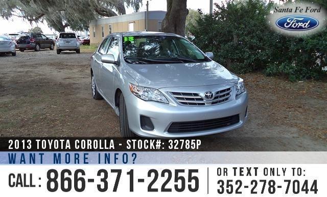 2013 Toyota Corolla LE - Cruise Control - Warranty