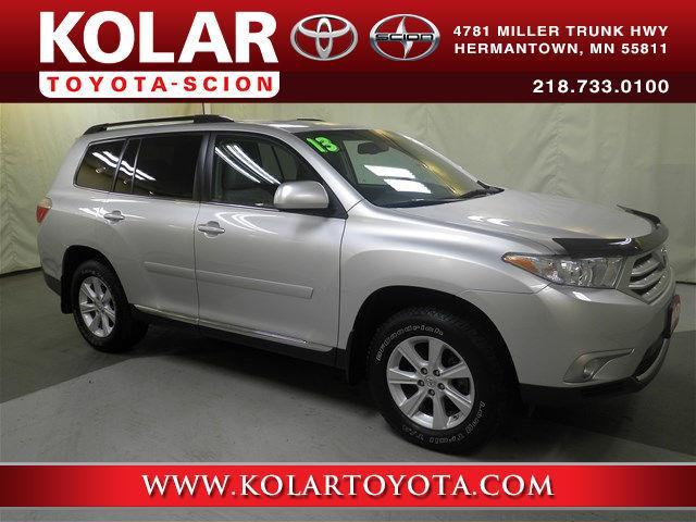 Kolar Toyota Duluth Minnesota >> 2013 Toyota Highlander SE AWD SE 4dr SUV for Sale in Duluth, Minnesota Classified ...