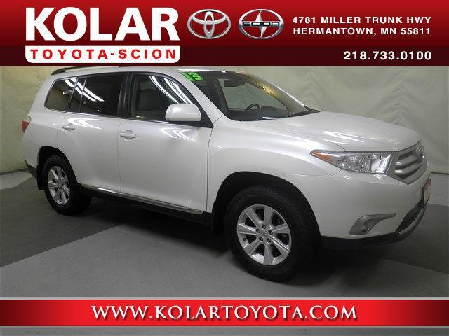 2013 toyota highlander se awd se 4dr suv for sale in duluth minnesota classified. Black Bedroom Furniture Sets. Home Design Ideas