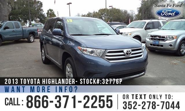 2013 Toyota Highlander - Tinted Windows - AM/FM Radio