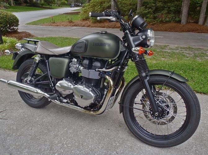 2013 triumph bonneville t100 steve mcqueen 31 of 1100 custom leather seat for sale in columbia. Black Bedroom Furniture Sets. Home Design Ideas