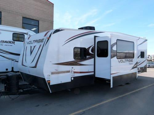 2013 Voltage V Series V300 Toy Hauler Travel Trailers Hot