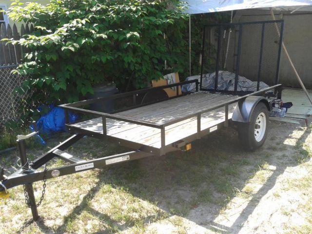 2013 original owner 5x10 utilitytrailer wtreated flr for 5x10 wood floor trailer