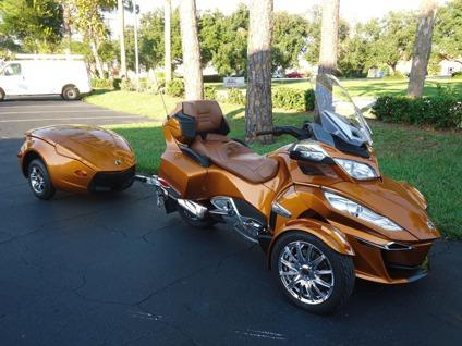 2014 can am spyder rt s limited with matching trailor like new for sale in san antonio texas. Black Bedroom Furniture Sets. Home Design Ideas