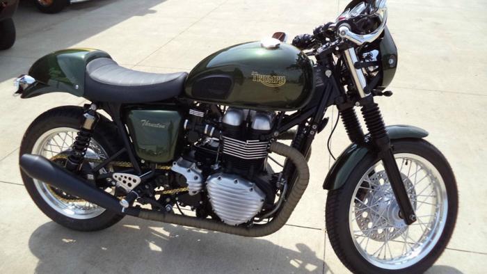 2014 Custom Triumph Thruxton Green Manalishi For Sale In