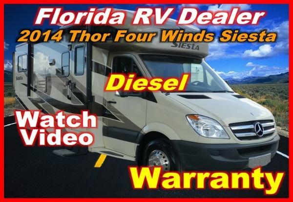 2014 four winds siesta 24 sr mercedes sprinter diesel for sale in port charlotte florida. Black Bedroom Furniture Sets. Home Design Ideas