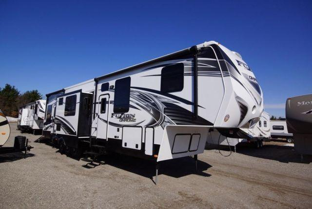 2014 fuzion 404 5th wheel toy hauler msrp over for sale in for 12 foot garage door for sale