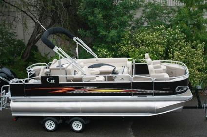 2014 grand island tahoe 20 ft tritoon pontoon boat fish for Used fishing boats for sale in houston