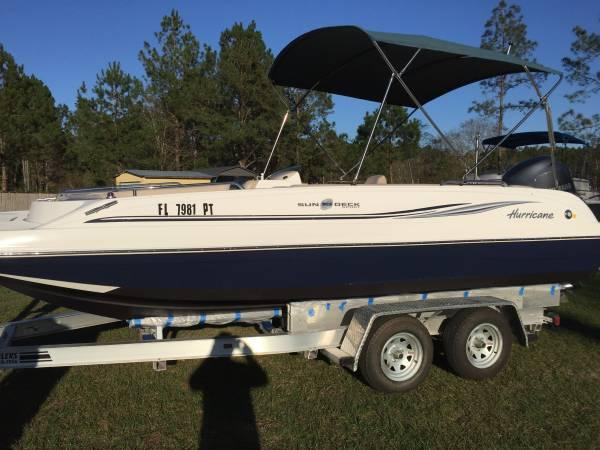 2014 hurricane 201 deck boat w/warranty