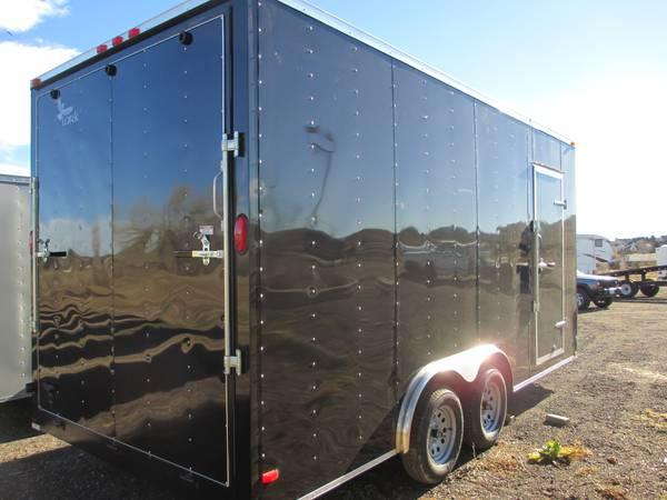 2014 Lark 8 X18 Extra Tall Enclosed Cargo Trailer For