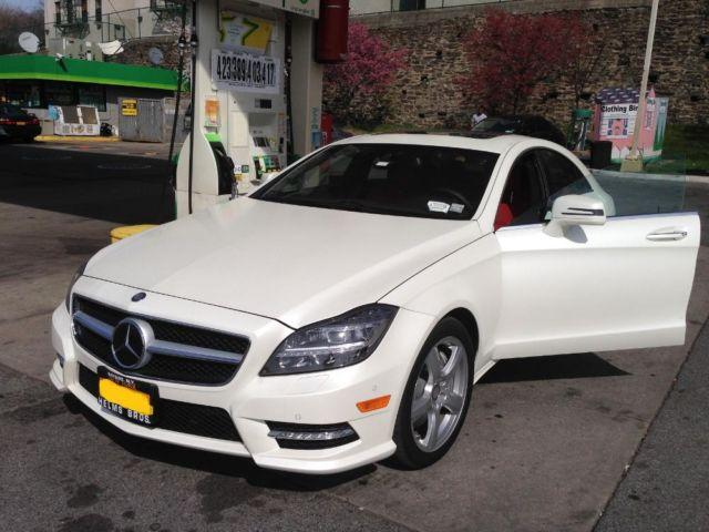 2014 MERCEDES CLS550 4MATIC MATTE WHITE RED INTERIOR