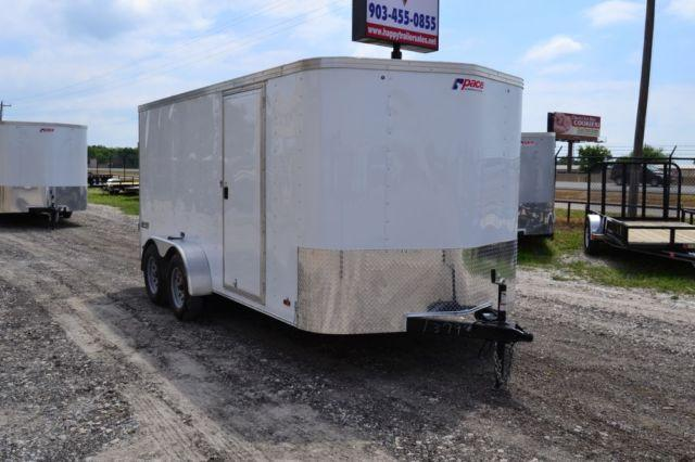 2014 Pace American Enclosed Trailer 7'x14' Tandem Axle