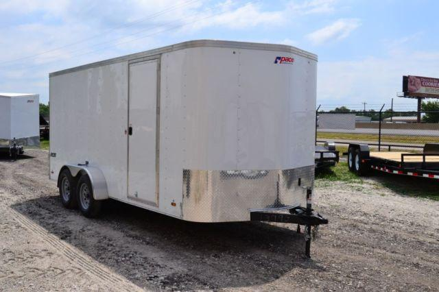2014 Pace American Enclosed Trailer 7'x16' Tandem Axle