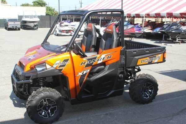 2014 polaris ranger xp 900 deluxe nuclear sunset orange le for sale in harbor city california. Black Bedroom Furniture Sets. Home Design Ideas