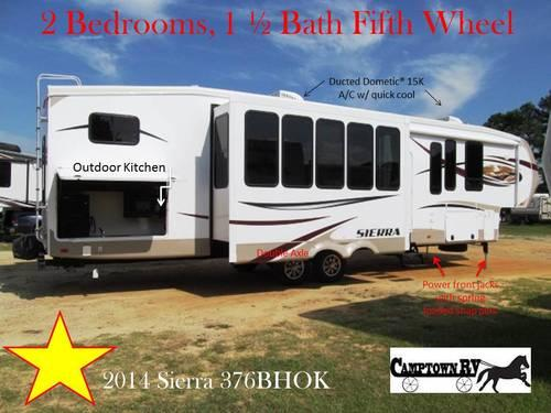 2014 Sierra 376bhok Luxury Bunk House Fifth Wheel For