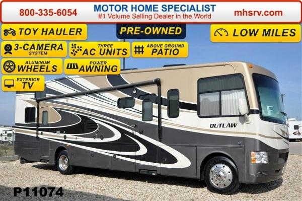 2014 Thor Motor Coach Outlaw 37LS Toy Hauler WSlide  Patio