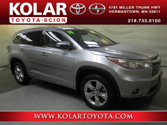 2014 toyota highlander limited awd limited 4dr suv for sale in duluth minnesota classified. Black Bedroom Furniture Sets. Home Design Ideas