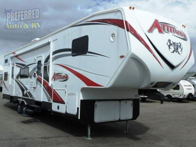2015 attitude garage 33g2s toy hauler fifth wheel by for Rv trailer with garage