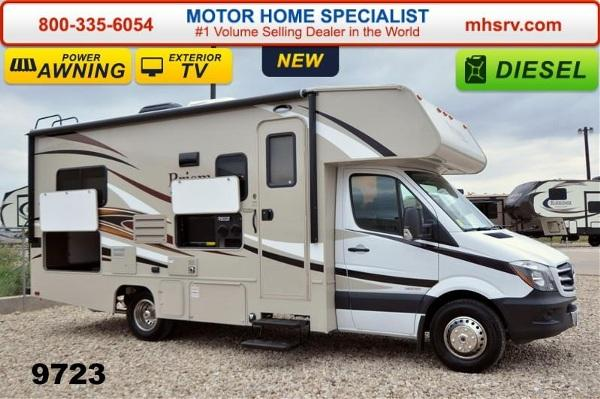 2015 coachmen prism 2150le diesel w ext tv serta 3 t for for Motor home specialist inc alvarado texas