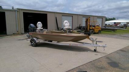 2015 edge 756 side console duckfishing boat by waco for Used fishing boats for sale in houston