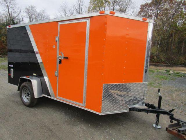 2015 Five Star Enclosed Cargo Trailer 6 X 12 Orange