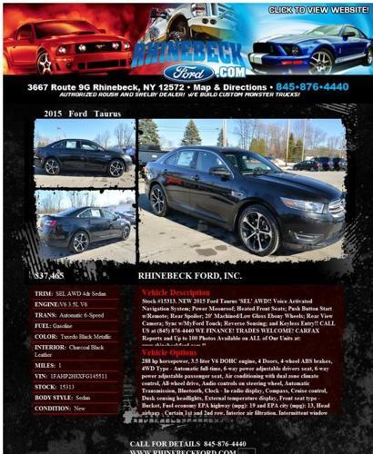 2015 Ford Taurus Se: 2015 FORD TAURUS SEL AWD BRAND NEW! WE FINANCE! TRADES