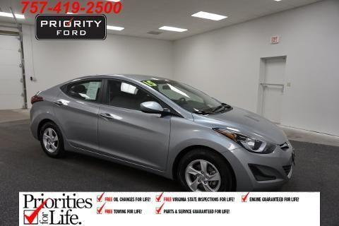 2015 hyundai elantra 4 door sedan for sale in norfolk. Black Bedroom Furniture Sets. Home Design Ideas