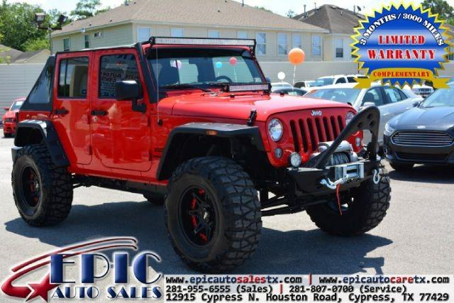 Cypress Auto Sales: 2015 Jeep Wrangler Unlimited 4WD 4dr Sport For Sale In
