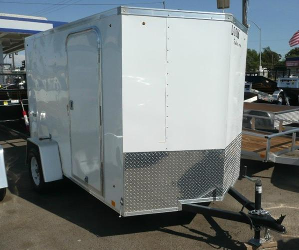 2015 Look 6x10 V-Nose Enclosed Cargo Trailer