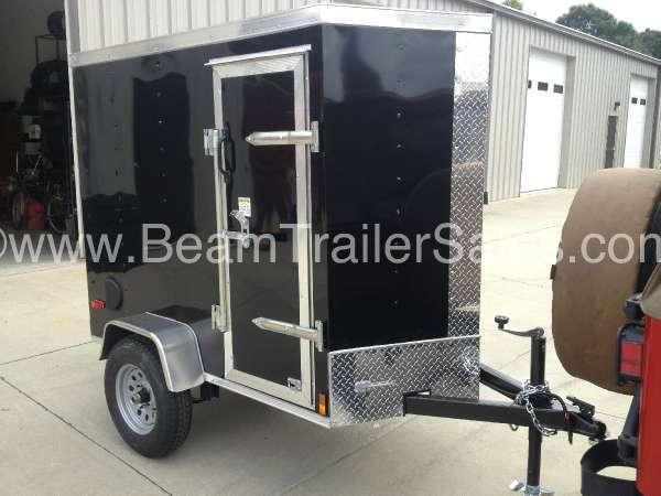 2015 Other New 4x6 VNose Enclosed Trailer w/Ramp Door