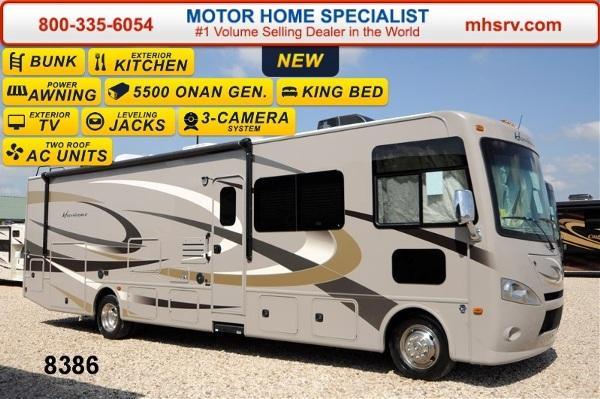 2015 thor motor coach hurricane 34j bunk model w ext tv for Motor home specialist inc alvarado texas