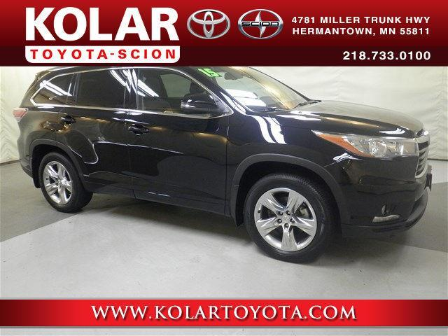 2015 toyota highlander limited awd limited 4dr suv for sale in duluth minnesota classified. Black Bedroom Furniture Sets. Home Design Ideas