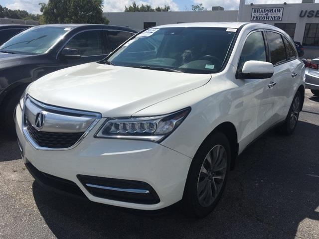 2016 acura mdx w tech 4dr suv w technology package for sale in greenville south carolina. Black Bedroom Furniture Sets. Home Design Ideas