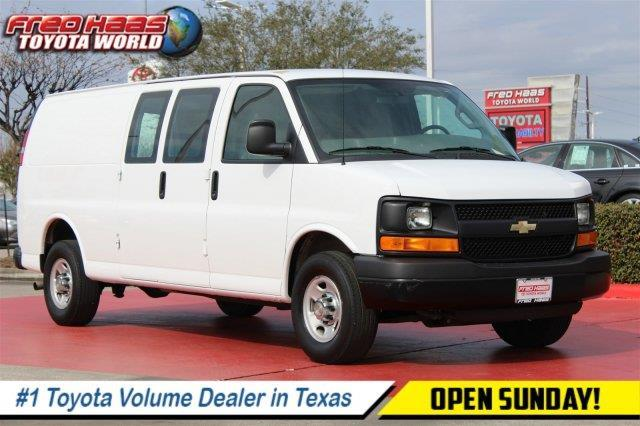 2016 chevrolet express cargo 2500 2500 3dr extended cargo van w 1wt for sale in rayford texas. Black Bedroom Furniture Sets. Home Design Ideas