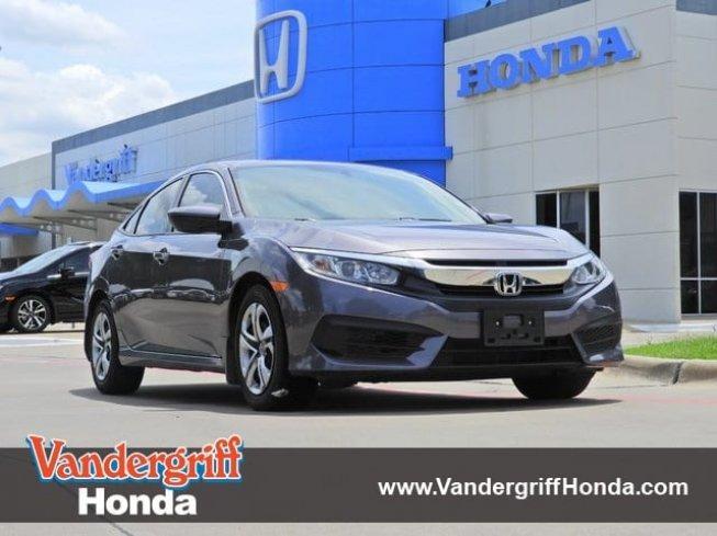2016 Honda Civic LX Sedan for Sale in Arlington, Texas Clified ...