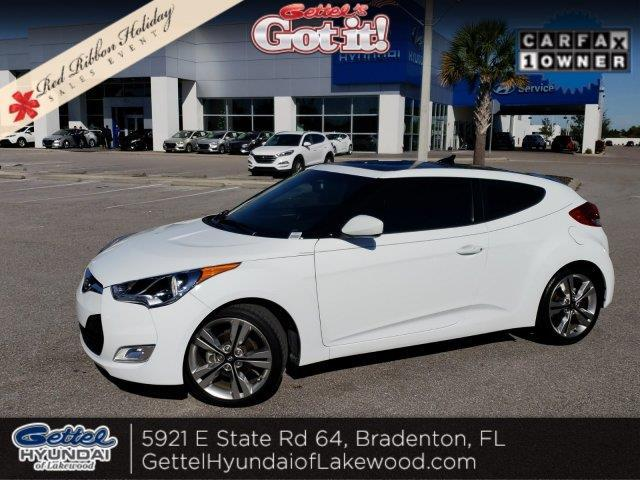 2016 Hyundai Veloster Base 3dr Coupe 6m W Black Seats For