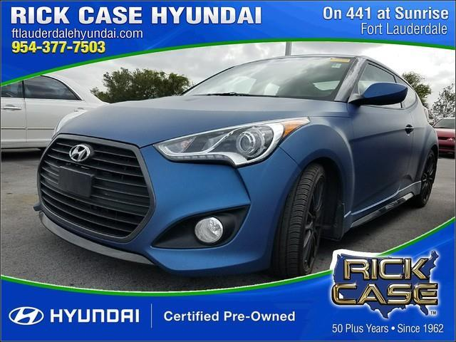 2016 Hyundai Veloster Turbo Base 3dr Coupe 6m W Black