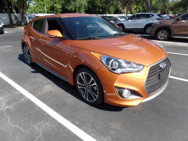 2016 Hyundai Veloster Turbo Base 3dr Coupe Dct W Orange