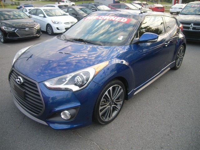2016 hyundai veloster turbo base 3dr coupe dct w orange accent interior for sale in little rock. Black Bedroom Furniture Sets. Home Design Ideas