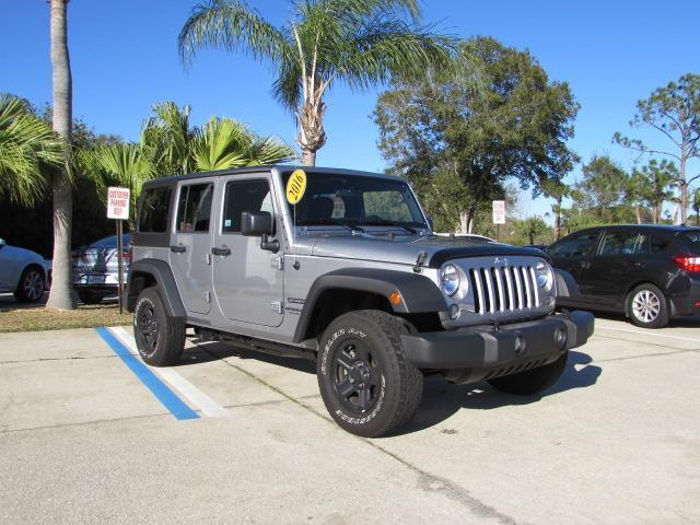 2016 jeep wrangler unlimited sport 4x4 sport 4dr suv for sale in melbourne florida classified. Black Bedroom Furniture Sets. Home Design Ideas