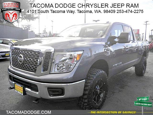 2016 nissan titan xd s 4x4 s 4dr crew cab pickup diesel for sale in tacoma washington. Black Bedroom Furniture Sets. Home Design Ideas