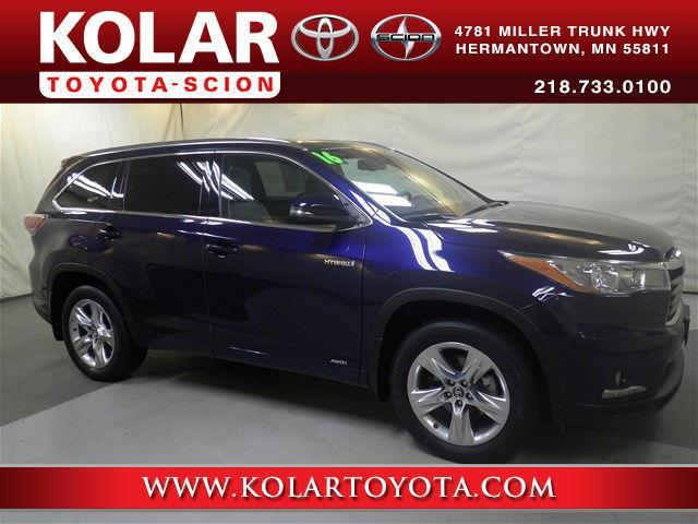Kolar Toyota Duluth Minnesota >> 2016 Toyota Highlander Hybrid Limited AWD Limited 4dr SUV