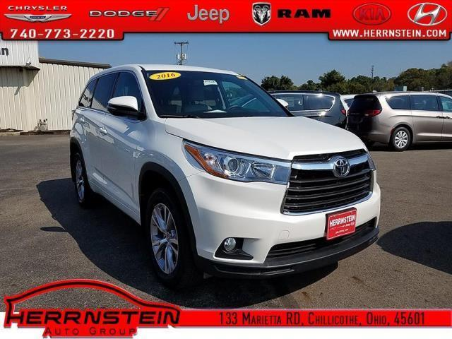 2016 toyota highlander le awd le 4dr suv for sale in chillicothe ohio classified. Black Bedroom Furniture Sets. Home Design Ideas