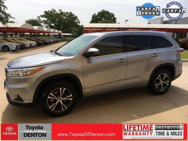 2016 toyota highlander xle xle 4dr suv for sale in denton texas classified. Black Bedroom Furniture Sets. Home Design Ideas