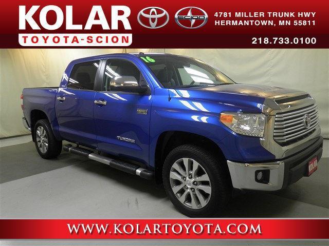 Kolar Toyota Duluth Minnesota >> 2016 Toyota Tundra Limited 4x4 Limited 4dr CrewMax Cab Pickup SB (5.7L V8 FFV) for Sale in ...