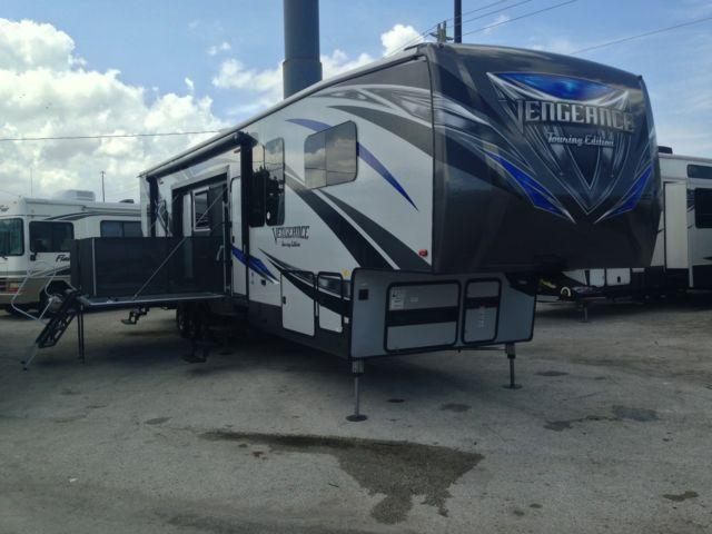 2017 Forest River Vengeance 40d12 Toy Hauler Fifth Wheel For Sale In Hollywood Florida