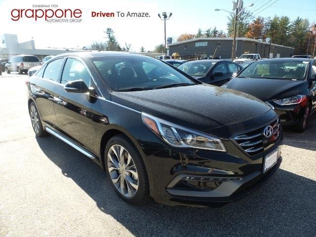 2017 hyundai sonata sport 2 0t sport 2 0t 4dr sedan w black leather interior for sale in bow. Black Bedroom Furniture Sets. Home Design Ideas